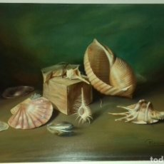 Arte: CUADRO OLEO SOBRE TABLA MANUEL PEREIRA BODEGÓN MAR.. Lote 26131096