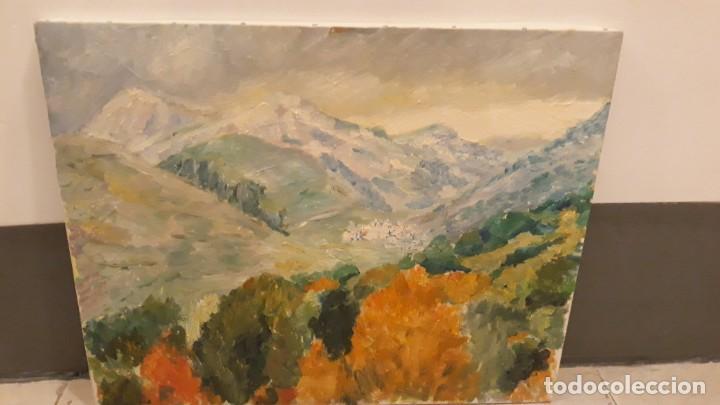 Arte: cuadro pintura óleo sobre lienzo paisaje montaña - Foto 2 - 168349992