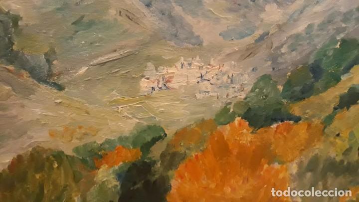 Arte: cuadro pintura óleo sobre lienzo paisaje montaña - Foto 3 - 168349992