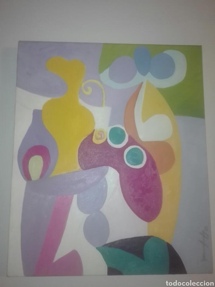 OBRA SOBRE LIENZO DEL PINTOR CANARIO RAFAEL BETHENCOURT-RAFAELY AÑO 59 55X46 CM (Arte - Pintura - Pintura al Óleo Contemporánea )