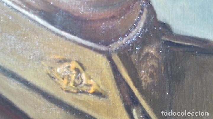 Arte: retrato al oleo de militar republicano ,segunda republica,firmado por juaquin tudela y perales - Foto 3 - 168417288