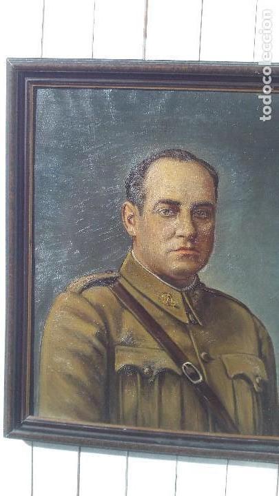 Arte: retrato al oleo de militar republicano ,segunda republica,firmado por juaquin tudela y perales - Foto 4 - 168417288