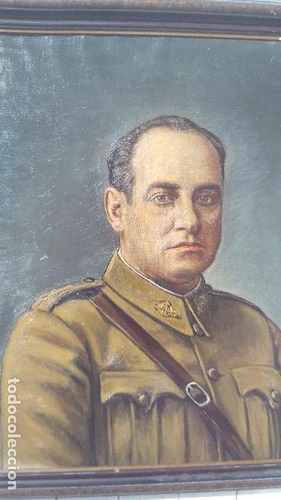 Arte: retrato al oleo de militar republicano ,segunda republica,firmado por juaquin tudela y perales - Foto 5 - 168417288