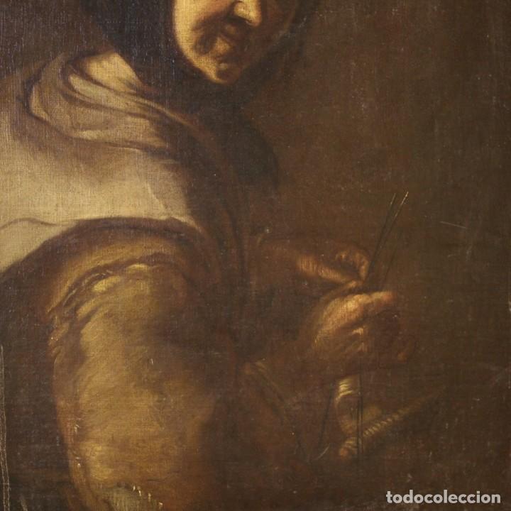 Arte: Antigua pintura italiana retrato de una campesina del siglo XVIII - Foto 3 - 168461324