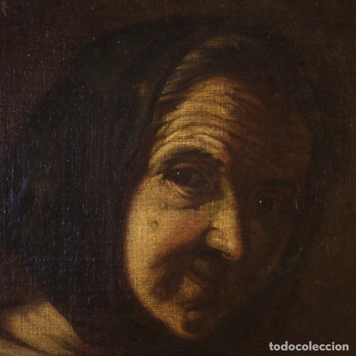 Arte: Antigua pintura italiana retrato de una campesina del siglo XVIII - Foto 4 - 168461324