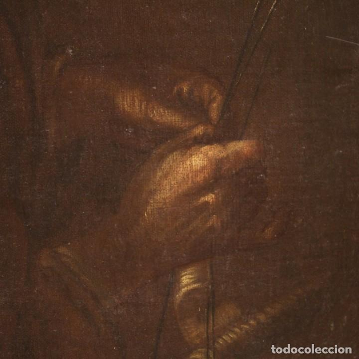 Arte: Antigua pintura italiana retrato de una campesina del siglo XVIII - Foto 5 - 168461324