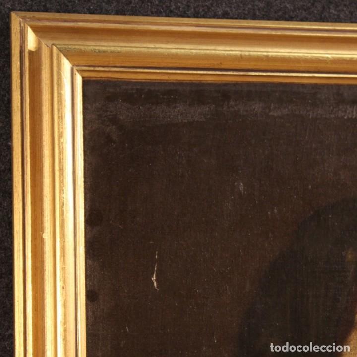 Arte: Antigua pintura italiana retrato de una campesina del siglo XVIII - Foto 7 - 168461324