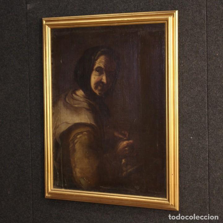 Arte: Antigua pintura italiana retrato de una campesina del siglo XVIII - Foto 8 - 168461324