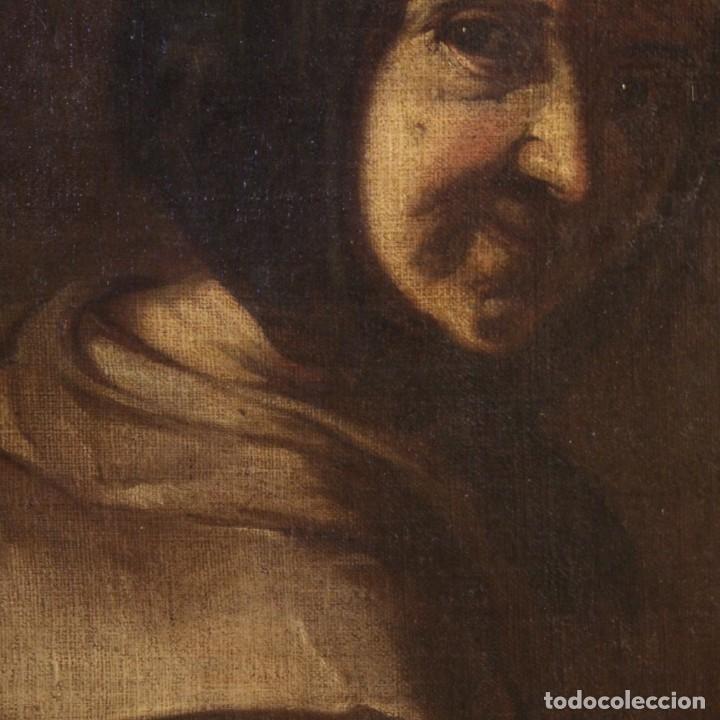 Arte: Antigua pintura italiana retrato de una campesina del siglo XVIII - Foto 9 - 168461324
