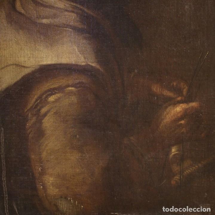 Arte: Antigua pintura italiana retrato de una campesina del siglo XVIII - Foto 10 - 168461324