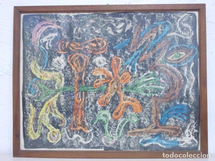 DE MUSEO- RARISIMA OBRA DE LUIS GARCIA ABRINES PINTOR SURREALISTA ARAGONES (Arte - Pintura - Pintura al Óleo Contemporánea )