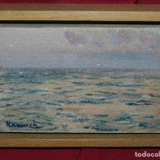 Arte: (M) PINTURA NICOLAU RAURICH I PETRE 1871-1945, ÓLEO SOBRE TELA 12,5X19 CM, SELLO DE ARTURO RAMÓN. Lote 168481068