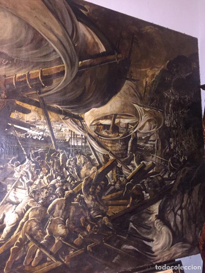 ÓLEO SOBRE TELA DE GRANDES DIMENSIONES 3,50X2 APROXIMADAMENTE.(SE PUEDE VER EN MALLORCA) (Arte - Pintura - Pintura al Óleo Antigua sin fecha definida)