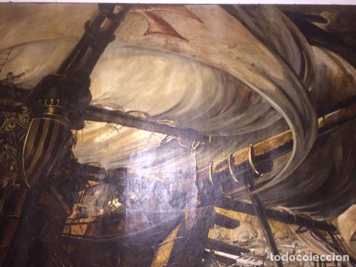 Arte: Óleo sobre tela de grandes dimensiones 3,50x2 aproximadamente.(se puede ver en Mallorca) - Foto 11 - 168523916