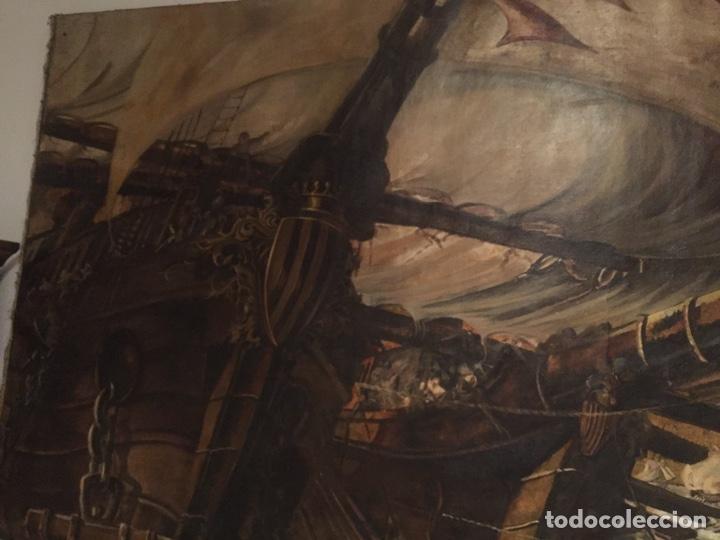 Arte: Óleo sobre tela de grandes dimensiones 3,50x2 aproximadamente.(se puede ver en Mallorca) - Foto 13 - 168523916