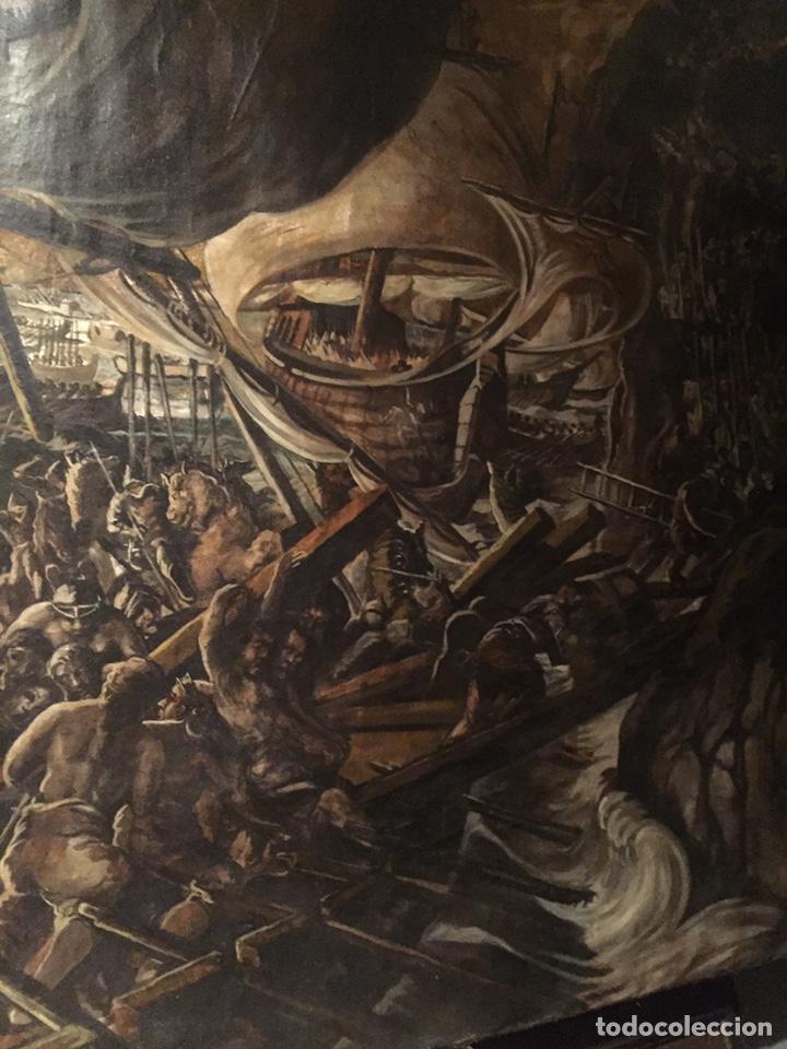 Arte: Óleo sobre tela de grandes dimensiones 3,50x2 aproximadamente.(se puede ver en Mallorca) - Foto 23 - 168523916