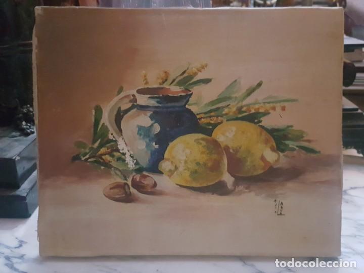 Arte: Pareja de bodegones sobre lienzo. - Foto 3 - 168601272