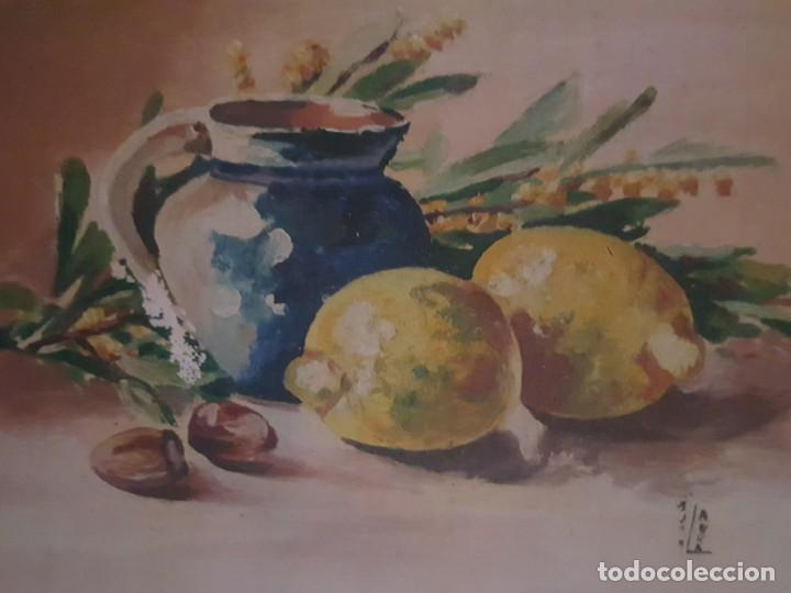 Arte: Pareja de bodegones sobre lienzo. - Foto 4 - 168601272