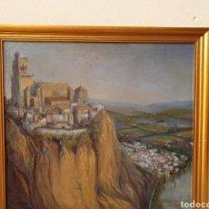 Arte: VISTA DE CIUDAD Y MAR. FIDEL TELLO REPISO. ÓLEO SOBRE TABLA.. Lote 168605408