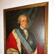 Arte: CUADRO ANTIGUO RETRATO 1788 CARLOS IV REY ESPAÑA BORBON RETRATISTA GOYA , DE MUSEO. Lote 168613764