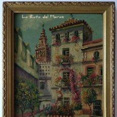 Arte: PLAZA SANTA MARTA - SEVILLA - CUADRO ENMARCADO DE ÓLEO SOBRE TABLA - FIRMADO. Lote 168623384