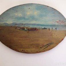 Arte: SALVADOR VILAPLANA (1900-1984) MARINA VALENCIANA - OLEO SOBRE TABLA . Lote 168744792