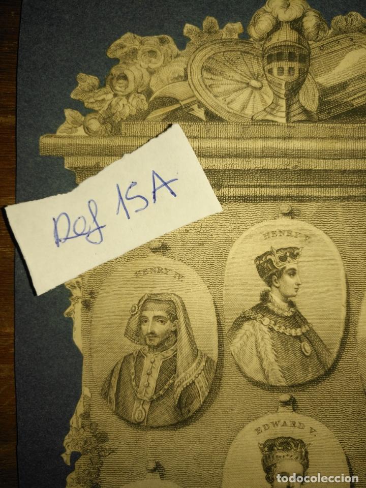 Arte: circa año 1812 - antiguo grabado original - henry iv , v , vi edward iv , v y richard iii - Foto 2 - 168752212