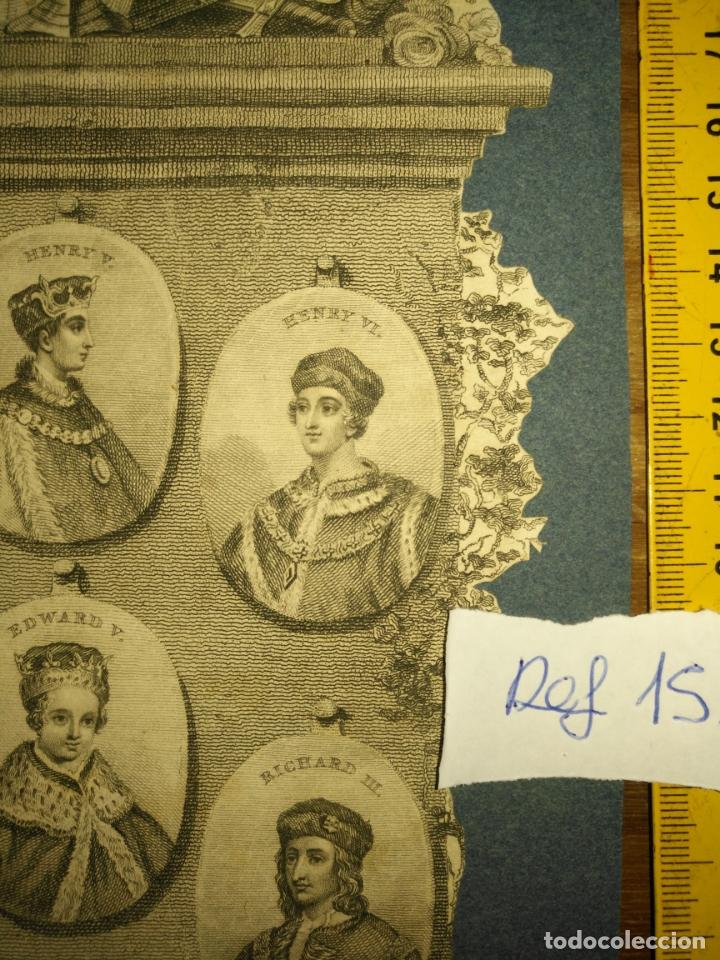 Arte: circa año 1812 - antiguo grabado original - henry iv , v , vi edward iv , v y richard iii - Foto 3 - 168752212