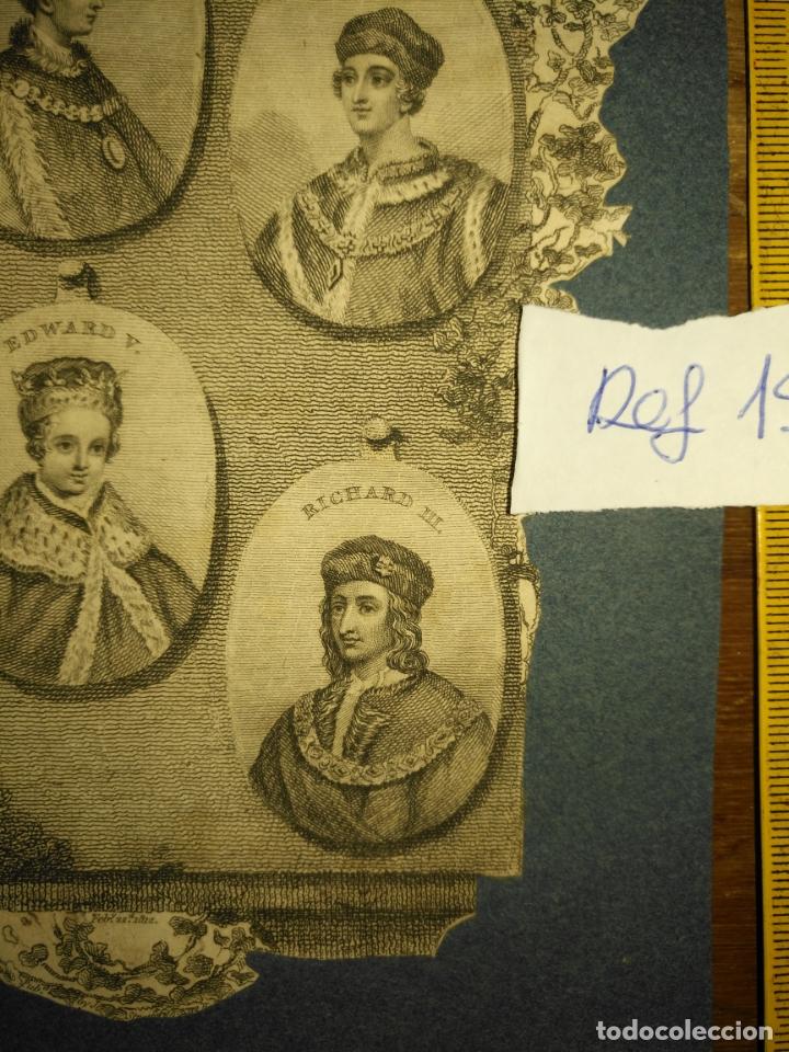 Arte: circa año 1812 - antiguo grabado original - henry iv , v , vi edward iv , v y richard iii - Foto 4 - 168752212