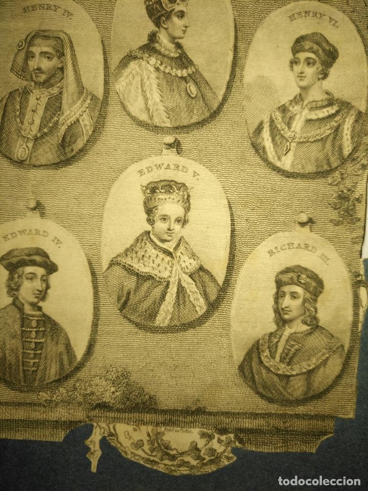 Arte: circa año 1812 - antiguo grabado original - henry iv , v , vi edward iv , v y richard iii - Foto 5 - 168752212