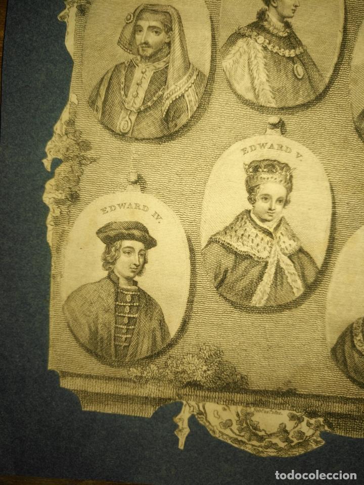 Arte: circa año 1812 - antiguo grabado original - henry iv , v , vi edward iv , v y richard iii - Foto 6 - 168752212