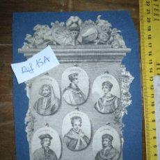 Arte: CIRCA AÑO 1812 - ANTIGUO GRABADO ORIGINAL - HENRY IV , V , VI EDWARD IV , V Y RICHARD III. Lote 168752212
