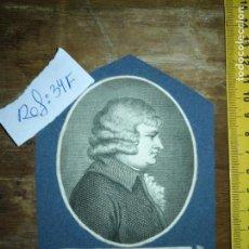 Arte: CIRCA AÑO 1820 - ANTIGUO GRABADO ORIGINAL - EDMUND BURKE GRABADO. Lote 168752756