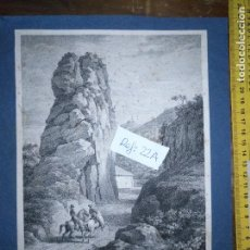Arte: CIRCA AÑO 1820 - ANTIGUO GRABADO ORIGINAL - VIEU UN GIBRALTAR TAKEN NEAR THE NAVAL HOSPITAL . Lote 168753052