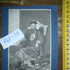 Arte: ANTIGUO GRABADO ORIGINAL - CIRCA 1798: EMPERADOR DE CHINA KIEN LONG . Lote 168753592