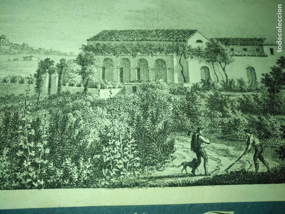 Arte: antiguo grabado original circa 1826 santa martha farm on the road from gibraltar to san roque - Foto 6 - 168754024