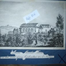 Arte: ANTIGUO GRABADO ORIGINAL CIRCA 1826 SANTA MARTHA FARM ON THE ROAD FROM GIBRALTAR TO SAN ROQUE . Lote 168754024