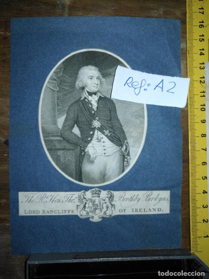 Arte: antiguo grabado original circa 1800 lord rancliffe of ireland, boothby parkyns. - Foto 2 - 168754452