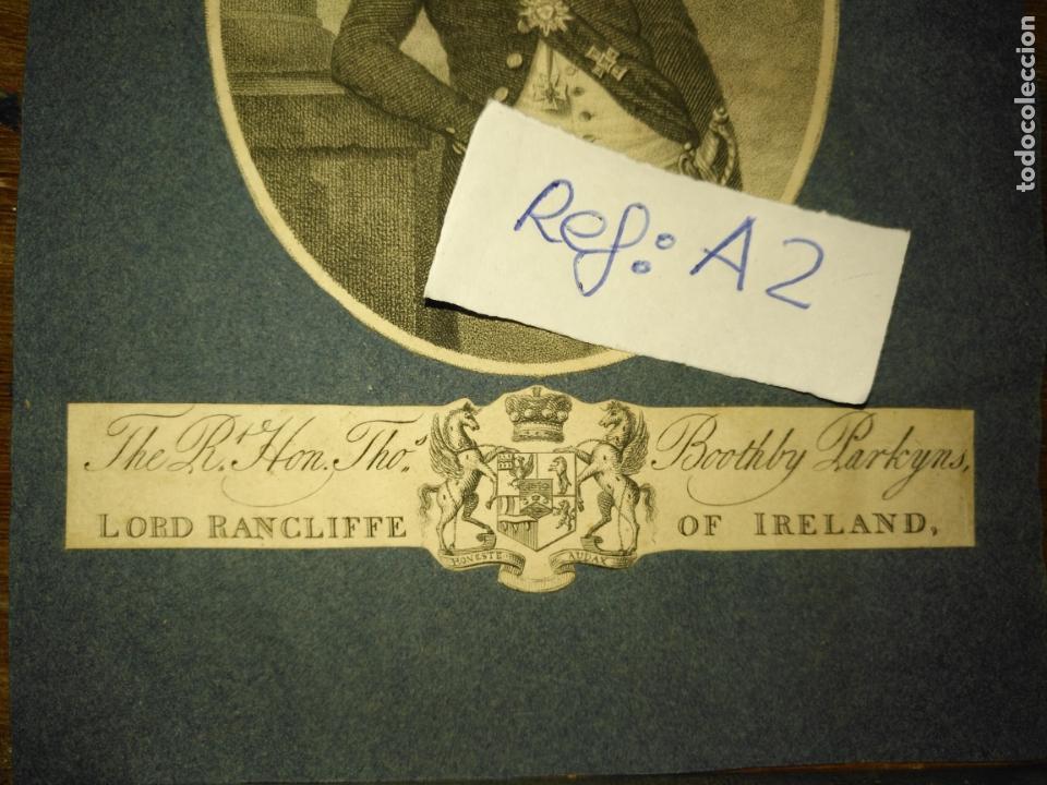 Arte: antiguo grabado original circa 1800 lord rancliffe of ireland, boothby parkyns. - Foto 3 - 168754452