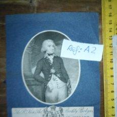 Arte: ANTIGUO GRABADO ORIGINAL CIRCA 1800 LORD RANCLIFFE OF IRELAND, BOOTHBY PARKYNS. . Lote 168754452