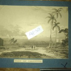Arte: ANTIGUO GRABADO ORIGINAL CIRCA 1840 INDIA CALCUTTA C.1840. Lote 168754644