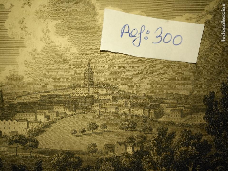 Arte: antiguo grabado original - BIRMINGHAM, England, panoramica circa 1764 - Foto 2 - 168755232