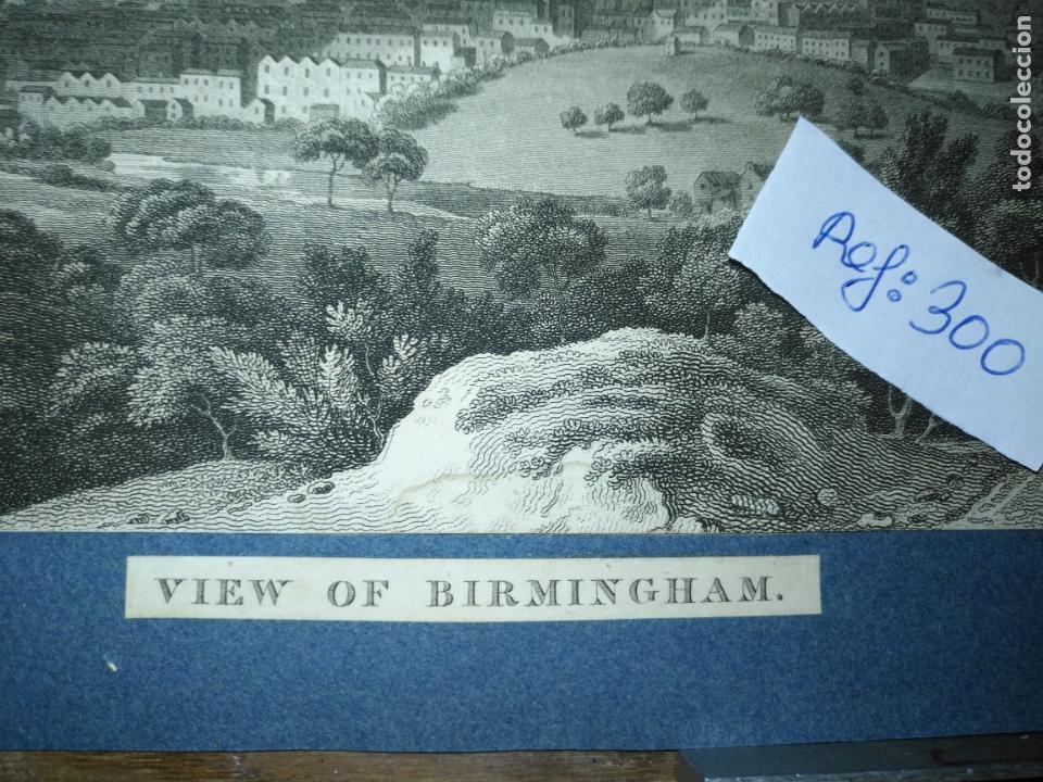 Arte: antiguo grabado original - BIRMINGHAM, England, panoramica circa 1764 - Foto 3 - 168755232