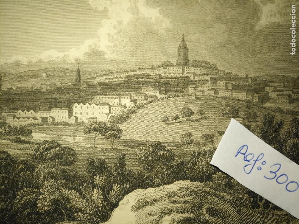 Arte: antiguo grabado original - BIRMINGHAM, England, panoramica circa 1764 - Foto 4 - 168755232