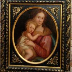 Arte: ÓLEO S/LIENZO ADHERIDO A TABLA, CON MARCO DE ÉPOCA. ESC. ITALIANA, FINALES S. XVII. 75.5X65.5 CMS. . Lote 168755612