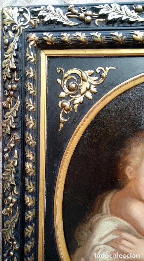 Arte: ÓLEO S/LIENZO ADHERIDO A TABLA, CON MARCO DE ÉPOCA. ESC. ITALIANA, FINALES S. XVII. 75.5X65.5 CMS. - Foto 6 - 168755612