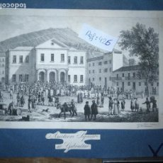 Arte: ANTIGUO GRABADO ORIGINAL MERCADO COMMERCIAL AUCTION SQUARE AT GIBRALTAR 1826 – FELIPPO BENUCCI. Lote 168755772
