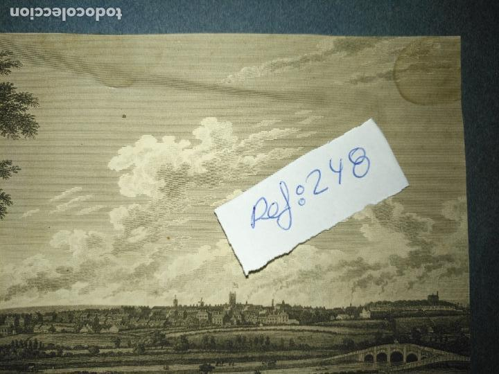 Arte: antiguo grabado original preston from pennyhorsham hill circa 1923/24 apxoimadamente - Foto 2 - 168756124