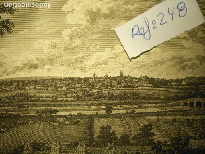 Arte: antiguo grabado original preston from pennyhorsham hill circa 1923/24 apxoimadamente - Foto 3 - 168756124