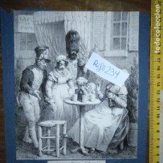 Arte: ANTIGUO GRABADO ORIGINAL - QUE CE MONSIEUR DAUPHIN / A DONC DES MANIÈRES QU'EST BON TON! CIRCA 1827. Lote 168756672